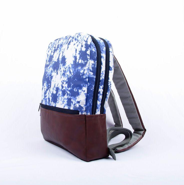 Laptop Backpack, The Indigo Moss Pattern, Laptop Bag, Laptop Bag Women, Laptop Bag for Women, Macbook Bag, Vegan Bag, Fabric Bag by Orunie on Etsy