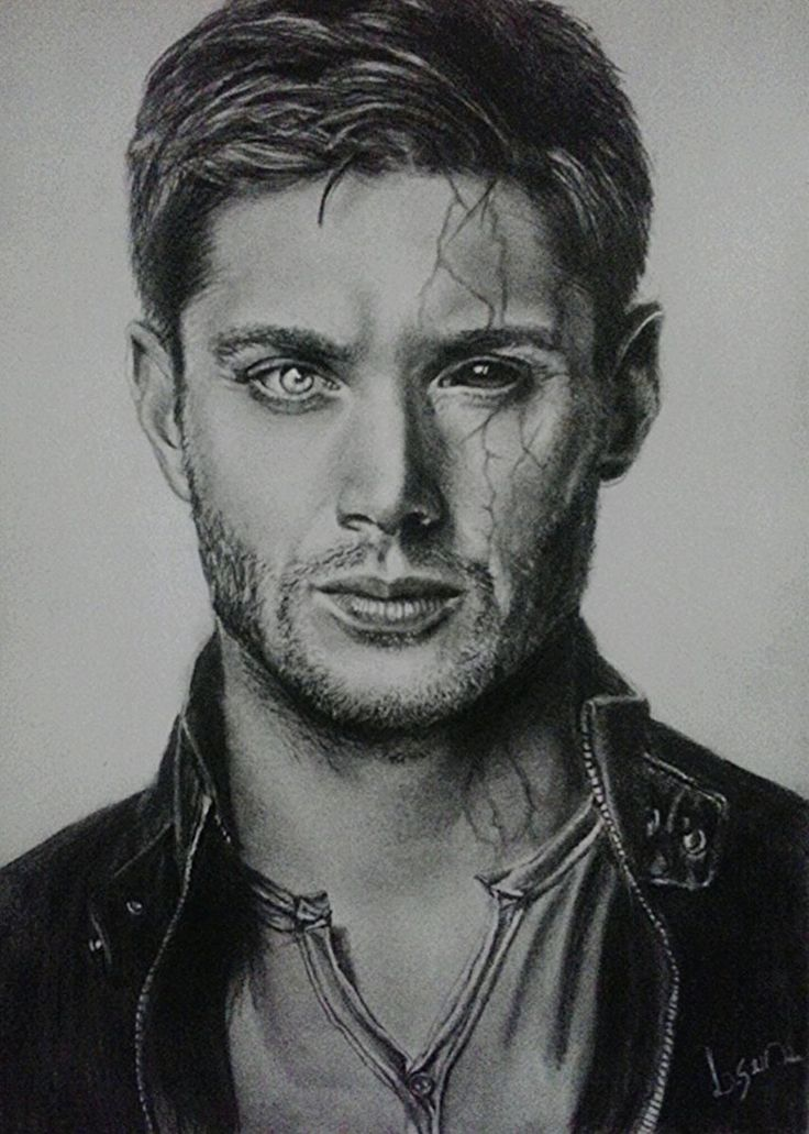 Dean Winchester by Lucas Andrade - Drawing,  21x29 cm ©2015 by Lucas Andrade -                                                                                                Photorealism, Realism, Paper, Performing Arts, Celebrity, People, drawing, desenho, dean, winchester, supernatural, brasil, lapis