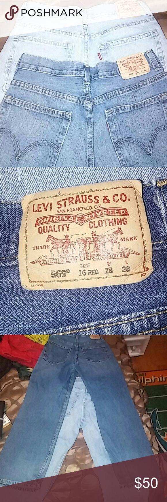2 pair of Levis 569 Dark and ligh blue denim Levi's Bottoms Jeans