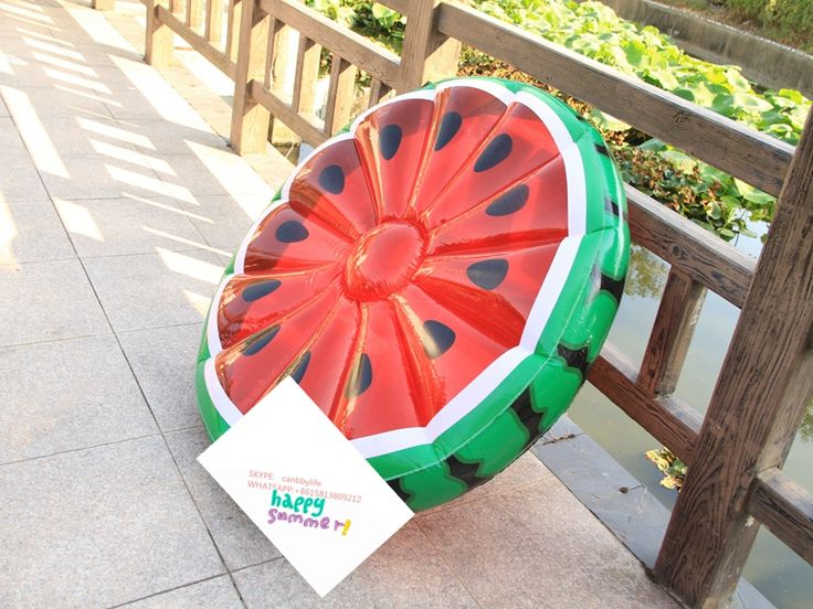 Cheap price high quality inflatable watermelon water pool float raft/watermelon inflatable pool float