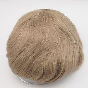 Blonde Mens Toupee Lace Front Human Hair Replacement for Men Stock Hairpiece | eBay