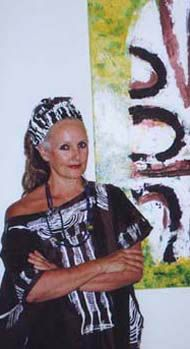 Linda Jackson Develops Tropical Images for Her Australian Fashion Designs.