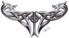 celtic cross + dragons by roblfc1892.deviantart.com on @deviantART