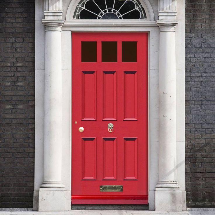 Made to size exterior timber door, Georgian Blackwell style door, made to measure, top quality manufacture, mouldings to the panels. #englishdoor #frontdoor #victoriandoor