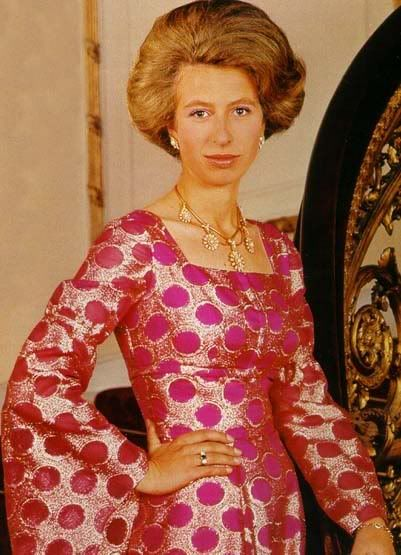 A groovy photo of Princess Anne - it had to be the 1960's or early 1970's!!