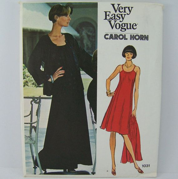 Vogue 1031 Carol Horn Jacket and Dress by SewingPatternsPast, $9.00
