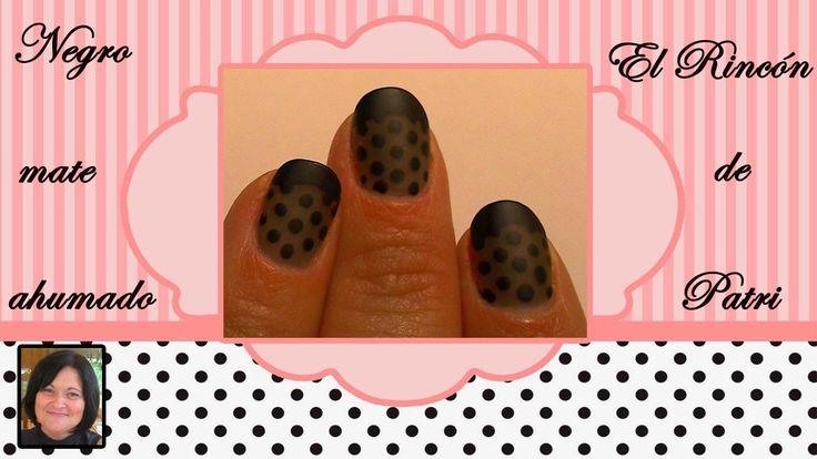 Diseño de uñas francesas negro ahumado mate- El rincón de Patri-  French smoked…