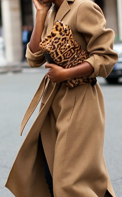 I'm thinking Fall.  Camel/leopard beautiful. A Roundup Of The Leopard Bags We Have Our Eyes On This Spring