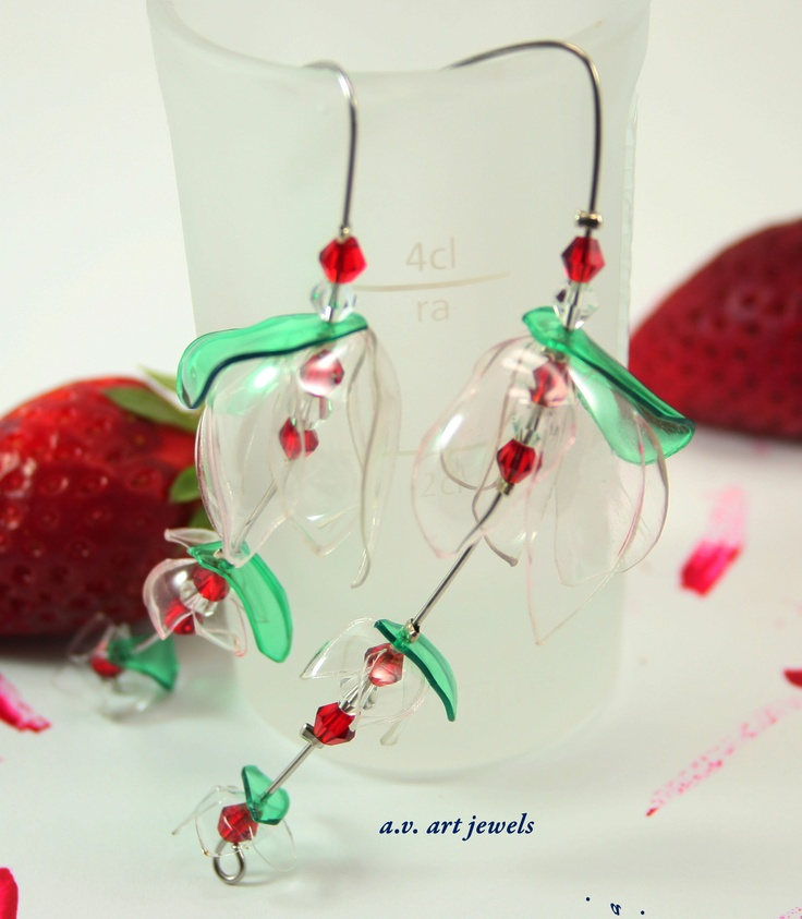 earrings pet recycled