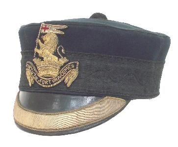 Duke of Wellington's (West Riding) Regiment, Victorian Officer's Forage Cap circa 1881-1900.