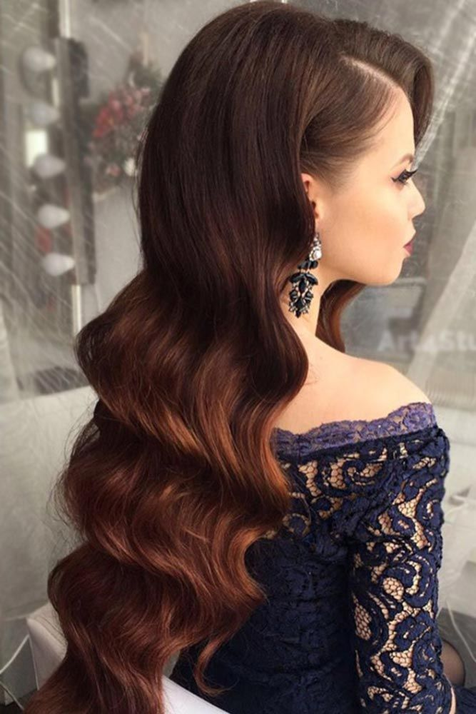 If you think that prom hairstyles down are too simple for such a special event in your life, then you should definitely look through our photo gallery. Believe us, you can wear your hair down and look gorgeous and elegant.