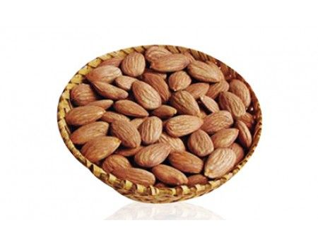 one kg Almonds. A basket containing one kg delicious selected Almond (Badam).
