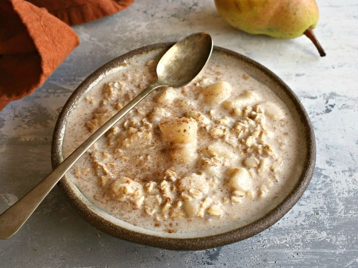 Autumn Pear And Cinnamon Overnight Oats Mealthy Com Recipe Gluten Free Recipes For Breakfast Recipes Healthy Breakfast Recipes Easy