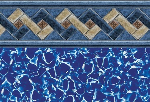 Ventura tile liner above ground pool liners pool liners for Pool design ventura