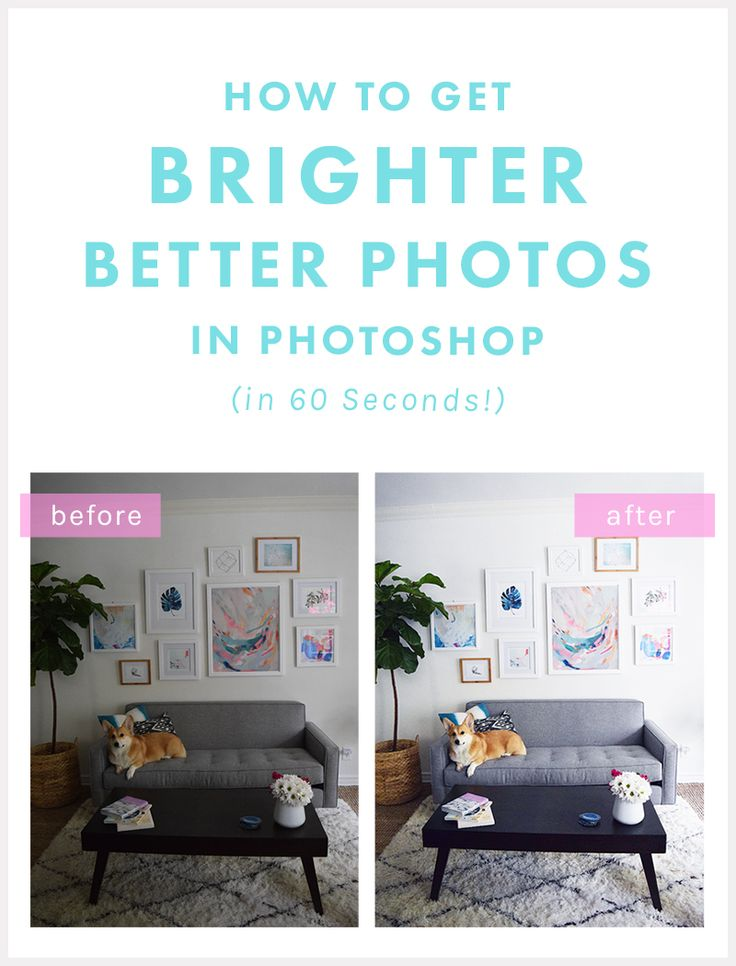 Fabulous quick fix for photos on your blog: http://thenectarcollective.com/how-to-brighten-photos-in-photoshop/