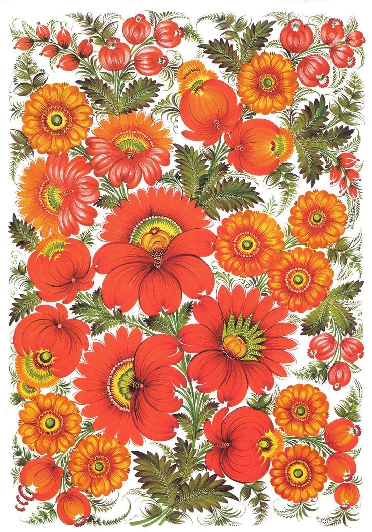 Ukrainian Petrkivka art, петриківський розпис