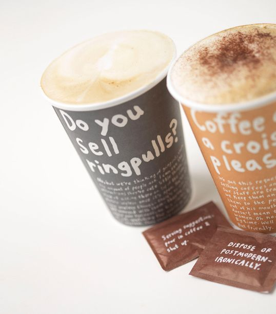 Puccino's coffee design by Jim Smith