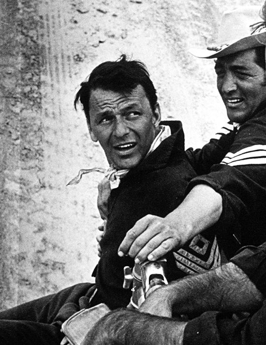 "deforest: ""Frank Sinatra and Dean Martin by Ted Allan behind the scenes of Sergeants 3, 1961 """