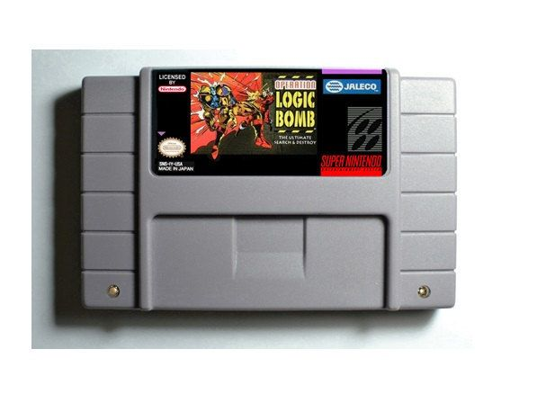 Operation Logic Bomb SNES 16-Bit Game Reproduction Cartridge USA NTSC Only English Language (Tested Working)  (Please take note that this item is coming from Hong Kong, China and delivery takes 11 to 24 working days)  Description:  - This is a ...