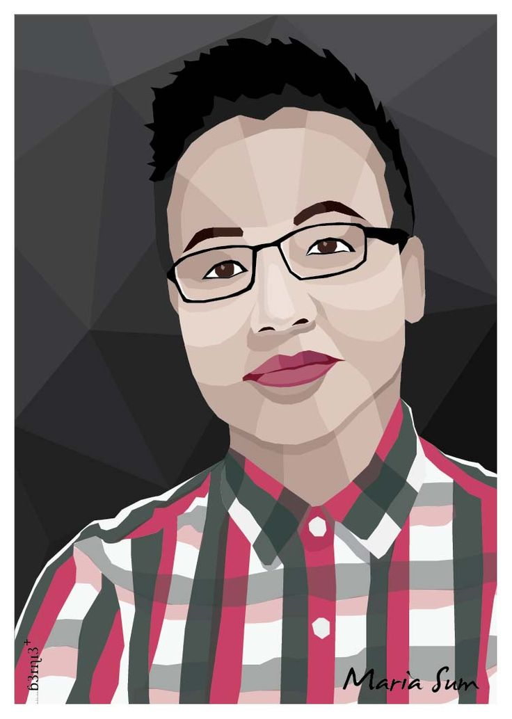 Bernie, Graphic Designer Group Head at FCB Jakarta tries to merge the art into human portrait using existing photographs. The usage of 'waves' instead of straight lines adds to bring the uniqueness in the image. The reason behind this Geometric Art: She's inspired by his Son, Farzan. Because he loves geometrical shapes & colors.