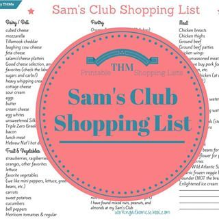 New Sam's Club shopping list! If you're a #trimhealthymama and don't know what…