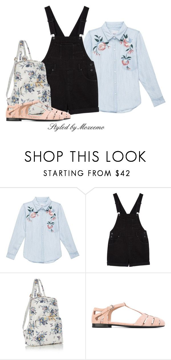 """""""Dungarees Outfit"""" by mozeemo ❤ liked on Polyvore featuring Rails, Monki and Church's"""