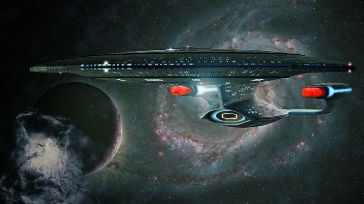 USS Enterprise NCC 1701-D, Galaxy Class. Launched Stardate 40795.5. She is the sixth starship to bear the name.