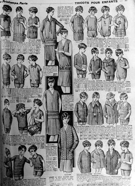 Page catalogue enfants