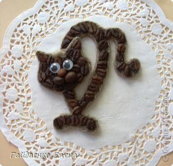 Поделка изделие Стихи Кот Кофеич коты и стихи Картон Клей Продукты пищевые Шпагат фото 1