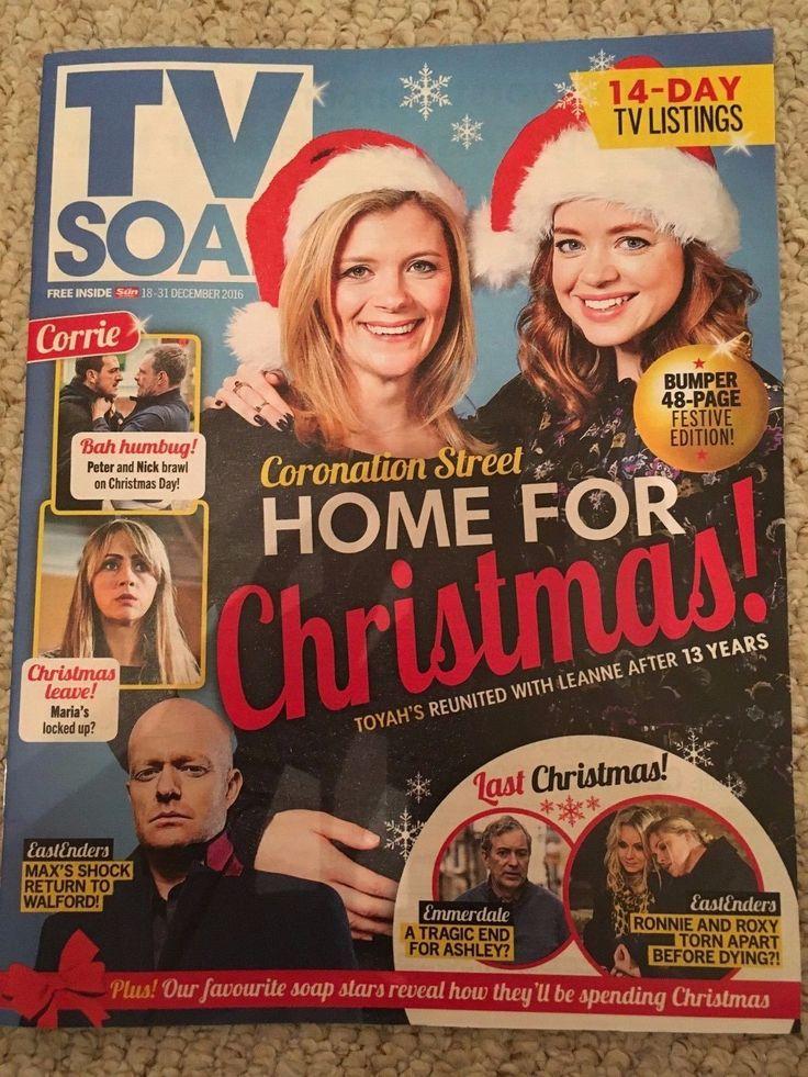 TV SOAP MAGAZINE DECEMBER 2016 GEORGIA TAYLOR JAKE WOOD JANE COX ANNA PASSEY | eBay