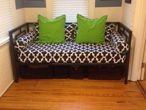 Ed Daybed Cover In Twin Xl And Full Mattress Customize Fabric Size Pictured Premier Prints Fynn Blue Navy