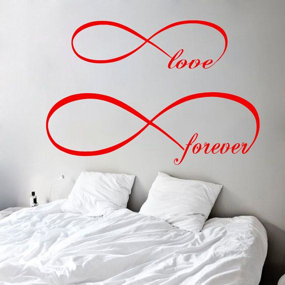 Wall Decals Infinity Symbol Love Forever Home by DecalMyHappyShop