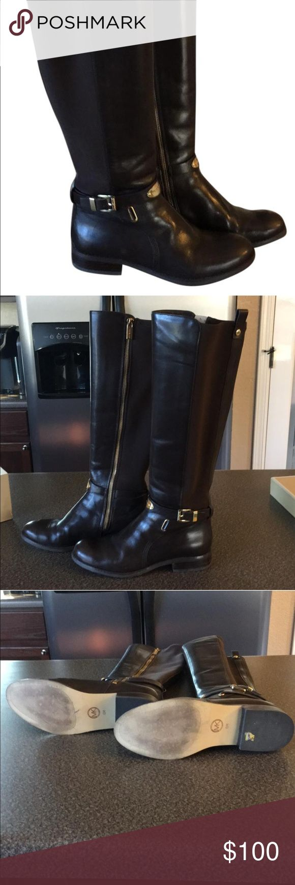 Arley Stretch Boot by Micheal Kors Michael Kors Leather Boots  They are in great condition with very minimal scuffs. They still have their original box. Michael Kors Shoes Winter & Rain Boots