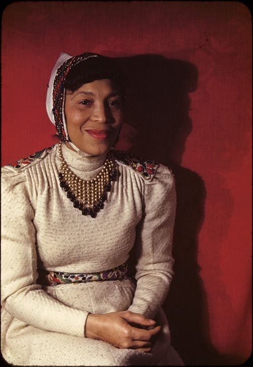 Zora Neale Hurston was born 123 years ago today, January 7, 1891 in Notasulga, Alabama and raised in the legendary all-black town of Eatonville, Florida. This rare color photograph of Ms. Hurston was taken by Carl Van Vechten in 1940. Photo: Beinecke Rare Book and Manuscript Library