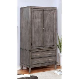 Shop for Furniture of America Corinate Transitional Grey 2-drawer Double-Door Bedroom Armoire. Get free delivery at Overstock.com - Your Online Furniture Shop! Get 5% in rewards with Club O!