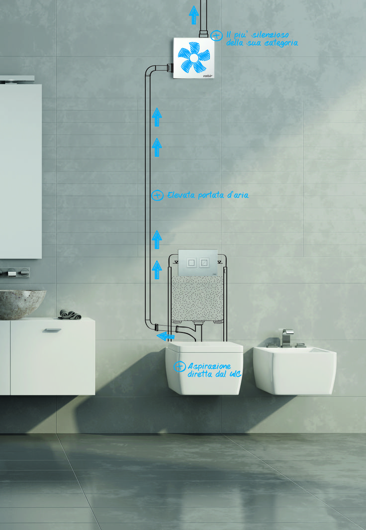 The innovative  Ariapur in-wall intake system has been studied by Valsir as the ideal solution for solving the foul odours problem in bathrooms. Ariapur offers excellent combination possibilities with all bathroom furnishings within private homes, offices or public buildings.   Ariapur è un rivoluzionario dispositivo,  che risolve definitivamente il problema dei cattivi odori in bagno. Prodotto in Italia da Valsir Spa
