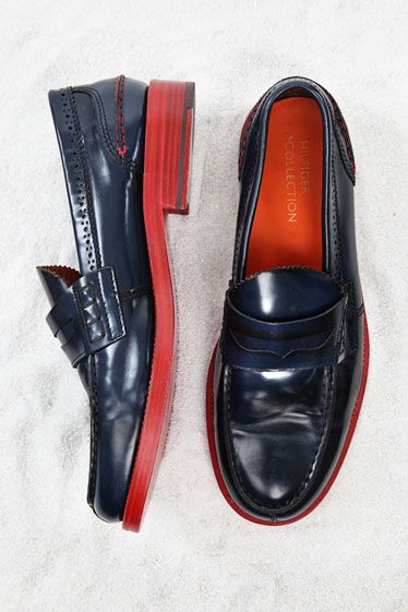 So obnoxious, but I think I like it.  Tommy Hilfiger navy penny loafers