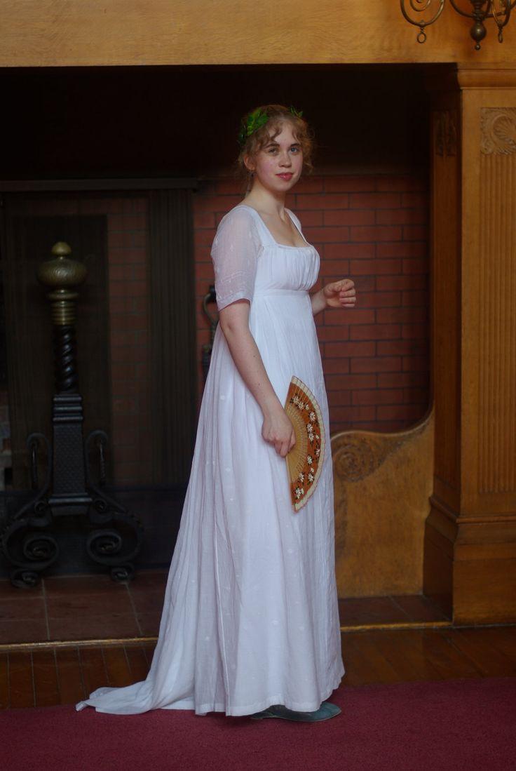 Regency fashion plate the secret dreamworld of a jane austen fan - Regency Muslin Gown This Cotton Muslin Ball Gown Is Based Off A Style Of Sheer