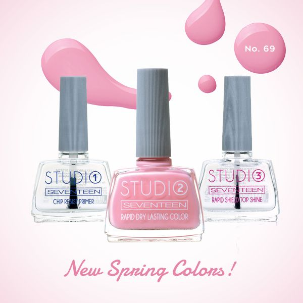 Studio – 3 Step Manicure System | Seventeen Cosmetics Do it like a pro with the advanced Studio 3 step Manicure System!  #Seventeen #Cosmetics #nails