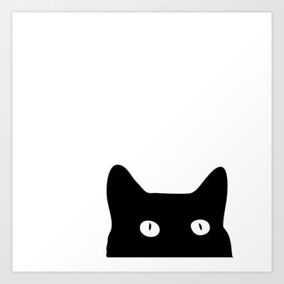 Black Cat Art Print by Good Sense - $16.64 hehehehe, kitty...