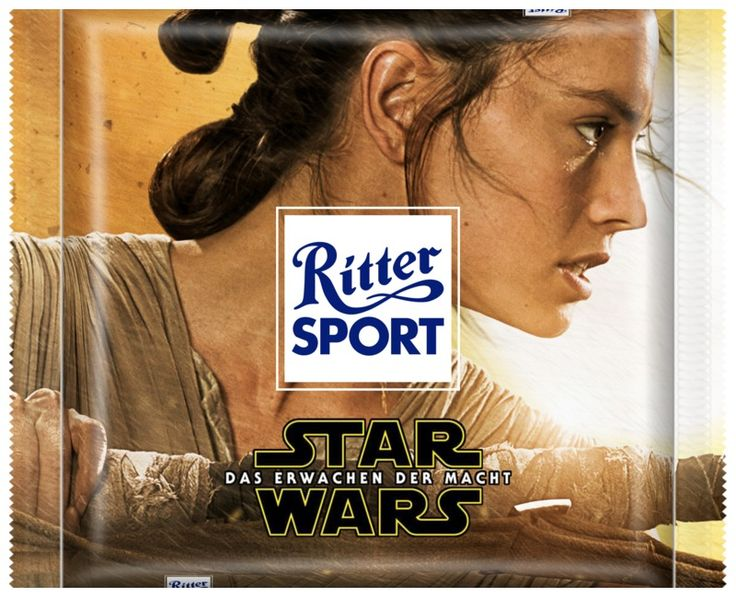 Star Wars - Das Erwachen der Macht - Rey #StarWars #Rey #TheForceAwakens #DasErwachenDerMacht #RitterSport