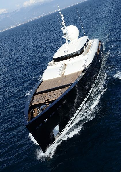 Perini Navi motor yacht Galileo G. Follow @y_uribe for more pics.