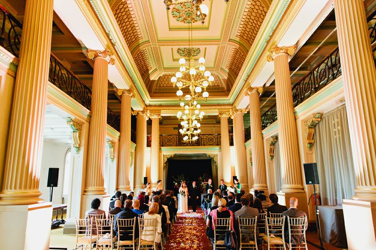 Our wedding ceremony at the State Library of Victoria