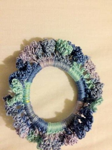 Crochet Hair Ties : Crochet hair tie Yarn crafts Pinterest