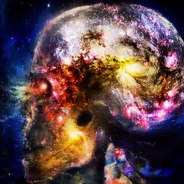 Very similarly structured, the brain and the universe. | Картинки с черепами, Туманности, Кислотное искусство
