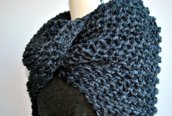 Outlander Knit Shawl Claire's Shawl Hand Knit Chunky by KYSAA