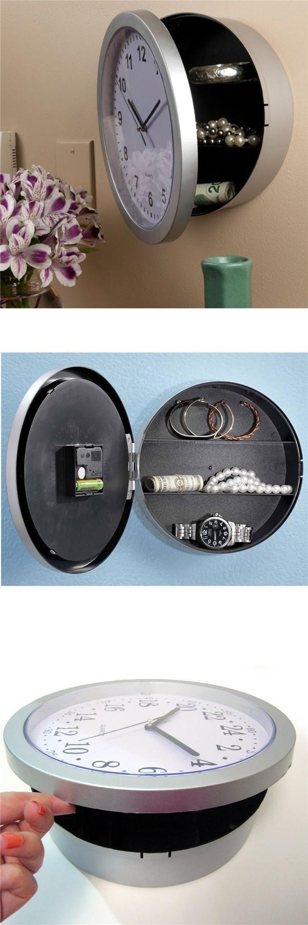 [Visit to Buy] Wall Clock Hidden Secret Safe Box for Cash Money Jewelry Storage Security Safes #Advertisement
