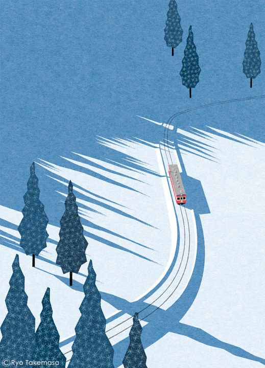 Ryo Takemasa #illustration #landscape #winter