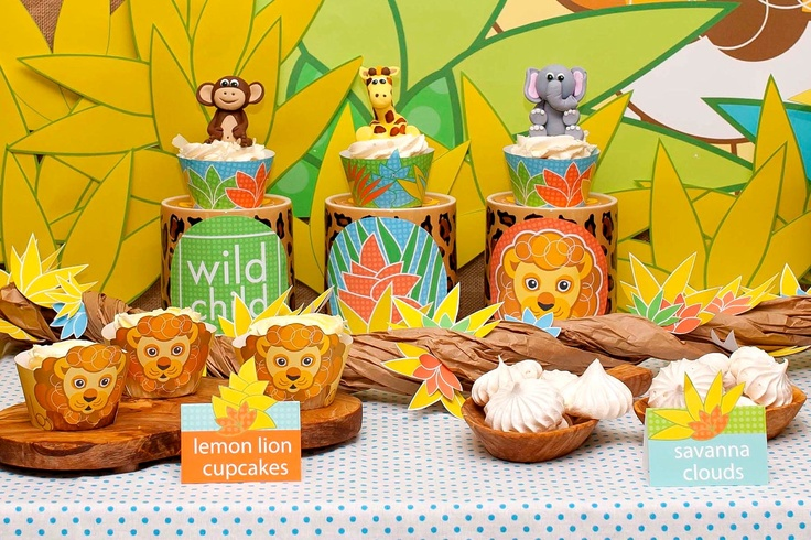 20 DOLLARS OFF - Jungle Lion Birthday Party Safari Value Package from the Wild Child DIY Printable Party Collection