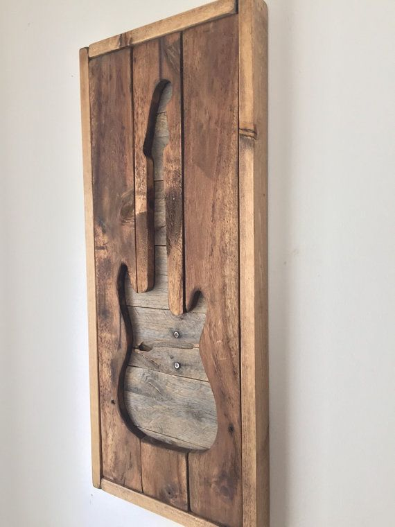 Rustic Wall Decor Electirc Guitar by shoponelove on Etsy